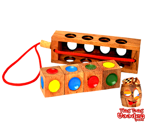 crazy four traffic light wooden puzzle solution 4 wooden dice outside the monkeypod wooden box