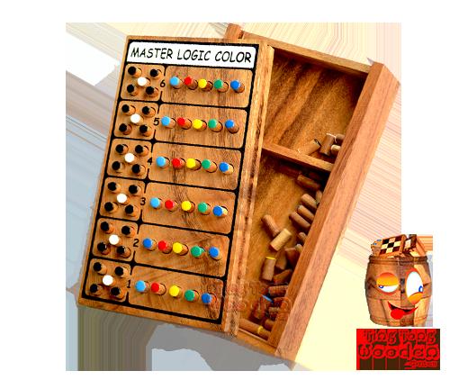 Master Logic Color Mastermind Wooden Simple Wooden Mastermind Game