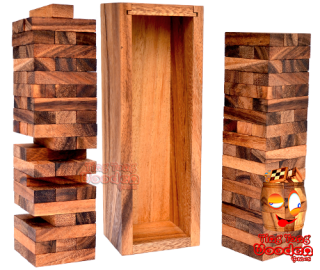 jenga tower extra large wobbly tower big entertainment game wooden game Thailand