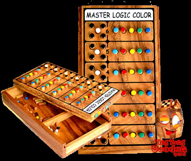 Master Logic Color Mastermind Wooden Enchanting Wooden Mastermind Game