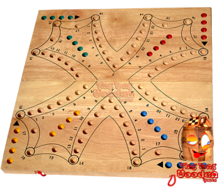 tock tac brändi dog as a big game board from monkey pod wood for 4 players or 2 teams thai wooden games