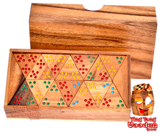 triomino or tri domino xl jumbo wooden game dominoes extra large triomino wooden games Thailand