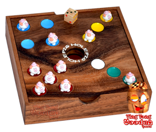 pig hole the big hole dice game the pig game for whole family thai wooden games