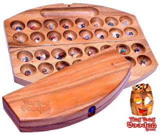 hus the semi-precious stone game bao bao with 32 troughs and 48 tiles from monkey pod wooden games thailand