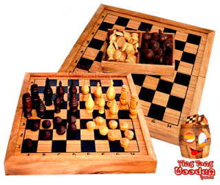 Thai chess game with thai wooden chess pieces wooden games thailand