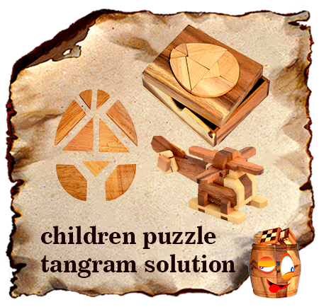 children puzzle solution and templates for tangram puzzle