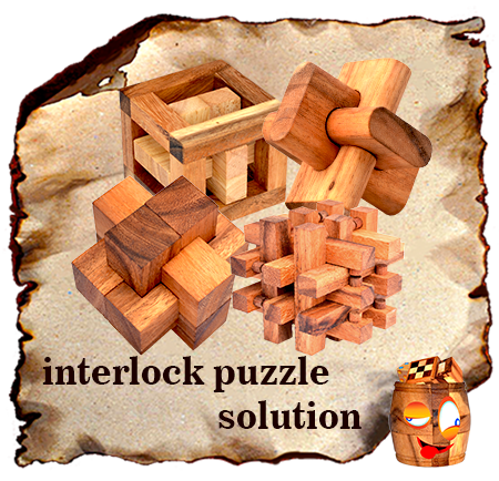 solution for interlock puzzle and wood knots