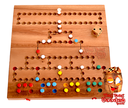 Barricade Malefiz A fun wooden dice game as a board game