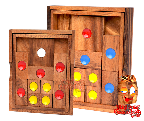 khun pan wooden game tricky iq puzzle from monkeypod wooden chiang mai