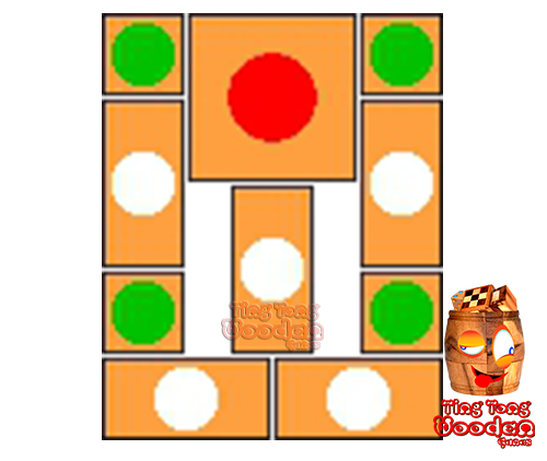 try to solve the khun pan wooden game with the template for 100 steps to solve the wooden puzzle