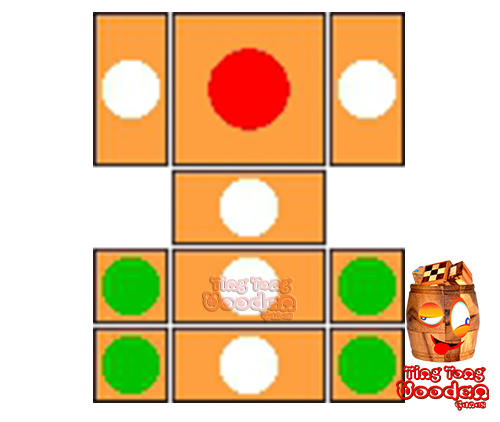 try to solve the khun pan wooden game with the template for 101 steps to solve the wooden puzzle