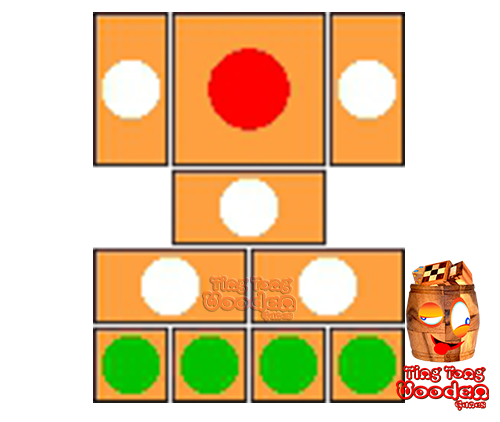 try to solve the khun pan wooden game with the template for 104 steps to solve the wooden puzzle
