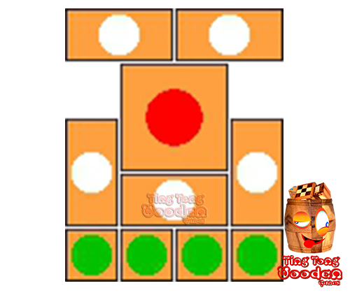 try to solve the khun pan wooden game with the template for 42 steps to solve the wooden puzzle