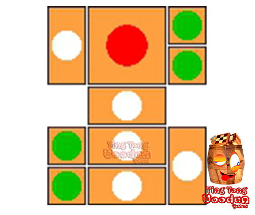 try to solve the khun pan wooden game with the template for 85 steps to solve the wooden puzzle