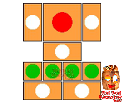try to solve the khun pan wooden game with the template for 94 steps to solve the wooden puzzle