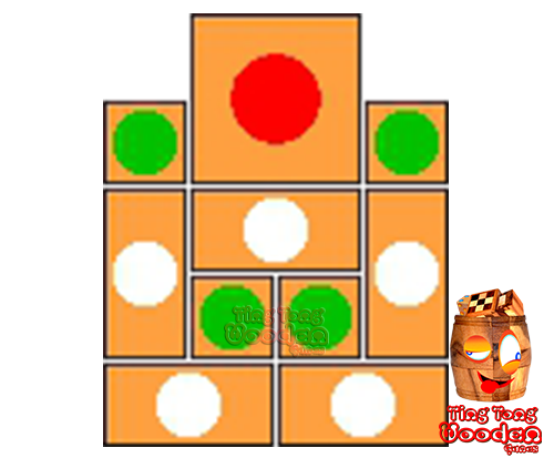 try to solve the khun pan wooden game with the template for 97 steps to solve the wooden puzzle