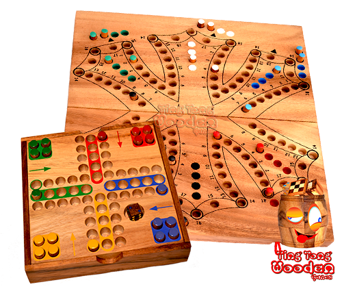 samanea wooden dice and entertainment games produce in ting tong wooden games factory chiang mai