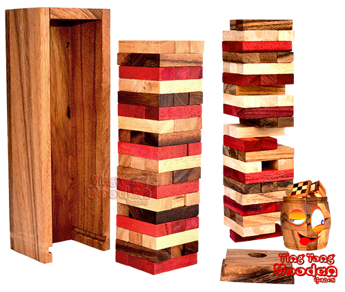 Jenga Tower wholesale wooden games Thailand factory in Chiang Mai