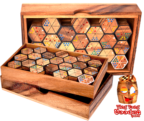 wholesale wooden games domino hexadomino triomino thai wooden games chiang mai