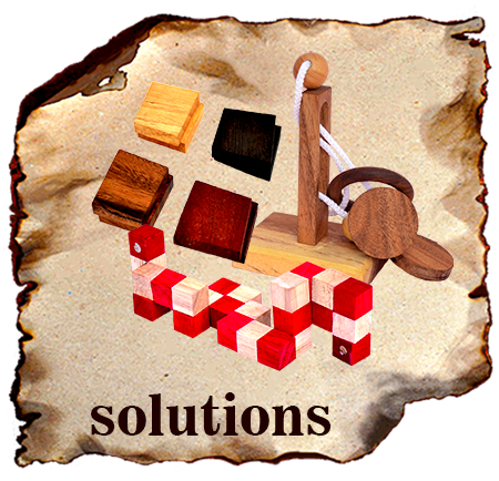 Wooden puzzle solution and games rules for wooden dice games and strategy games