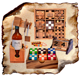 Wooden gift ideas, games and puzzles The puzzle collection collection box with 9 wooden puzzles