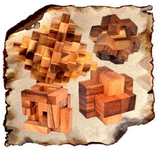 Interlock Wooden Puzzle, Wooden Knots Puzzle, Devil Knot, Brick Puzzle, Pen Up, Koncy Puzzle, 3D Puzzle Wood