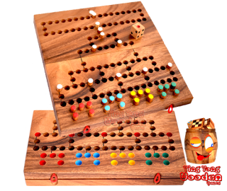 Barricade Malefiz Dice game for the whole family as wooden board to fold with figures and dice
