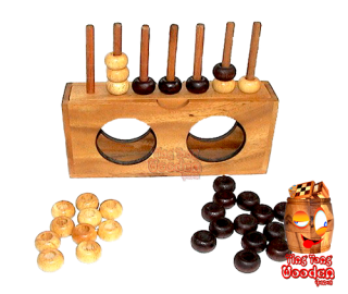 Connect 4 Bingo the wooden strategy game for 2