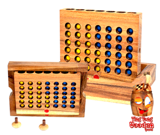 Four Wins as wooden version for the trip Bingo take away play us wooden in Samanea Wooden