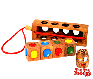 Crazy Four color puzzle, Ampelspiel, Traffic light game, Kinderpuzzle, wooden toys crazy 4 wooden games