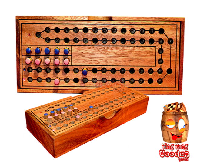 Horse Racing Wooden Dice Game for 2 players funny entertainment