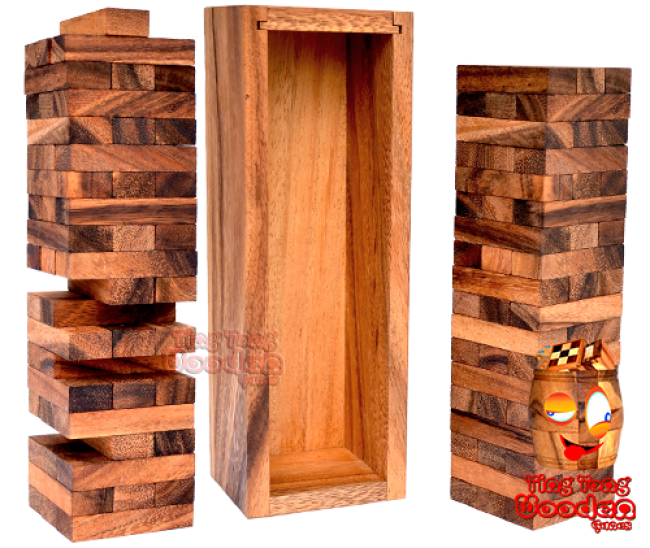 wobbly tower extra large wobbly tower big entertainment game wooden game Thailand