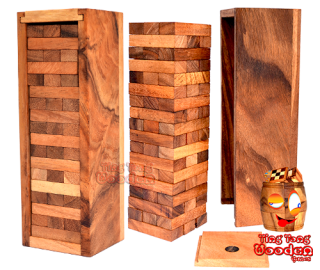 Wobbly Tower game large the wobble tower big in large wooden version monkey pod games Thailand