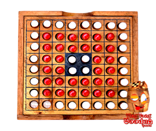 othello obversi strategy game in a small wooden box monkey pod thailand