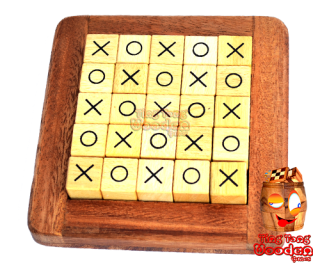Quixo strategy game Cross Road or Tic Tac Toe made of wood for 2 persons Monkey Pod Thailand
