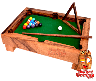 billard table mini version from table billard monkey pod wooden games thailand