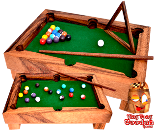 billard table mini bureau version table billard jeux en bois thaïlande