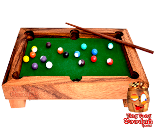billard table mini for office with wooden balls from wooden games thailand