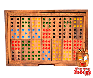 domino box 9 wooden domino game for 6 player with 56 Domino wooden stones games Thailand