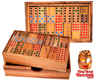 domino box 9 point samanea wooden domino game with 56 domino wooden stones wooden games Thailand