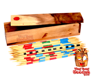 mikado or pick up sticks exciting kids board game samanea wooden games Thailand