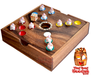 pig hole the big hole dice game also known as pork game thai wooden games