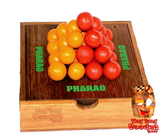 Pylos strategy game the pharaoh pyramid with 30 wooden balls from monkey pod wood thai wooden games