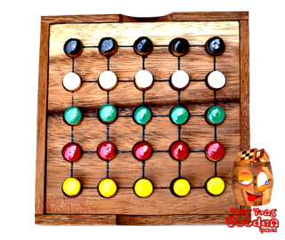 Clored sudoku five different ein Farb Sudoku für Kinder aus Monkey Pod Thai wooden games