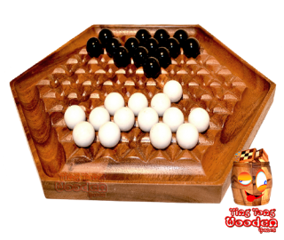 Abalone strategy game for 2 players as wooden game monkey pod wooden games thailand