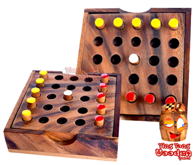 Bobail strategy game wooden game from monkey pod wooden games thailand
