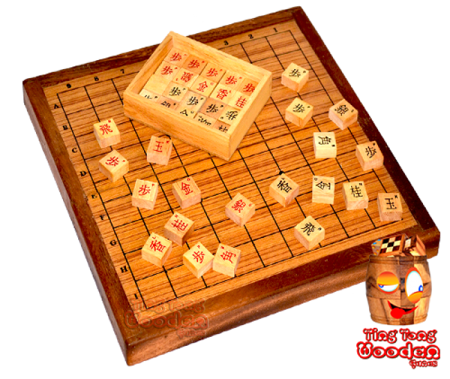 Japanese chess game wooden board game box monkey pod wooden games Thailand