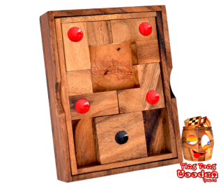 Khun Pan Center Holz Knobelspiel Schiebespiel aus Monkey Pod Holz wooden games and puzzle thailand