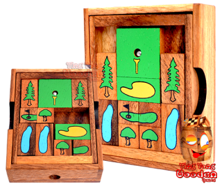 Khun Pan golf the khun phaen sliding game as a golf game version wooden games and puzzle Thailand
