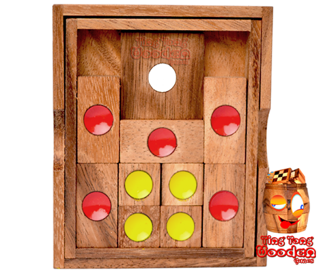 Khun Pan large or the Khun Phaen wooden puzzle game monkey pod wooden games Thailand